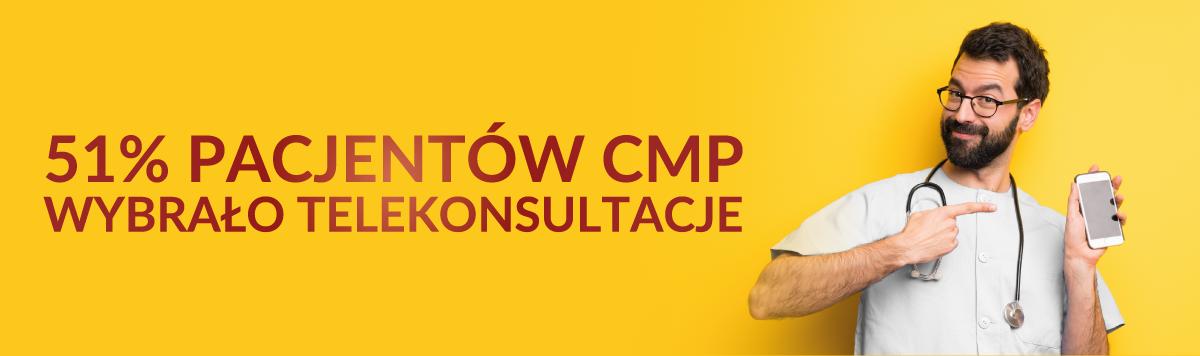 Telemedycyna w Centrum Medycznym CMP – telekonsultacje ze specjalistami: pediatra, internista, alergolog, ginekolog, psycholog, kardiolog, dermatolog