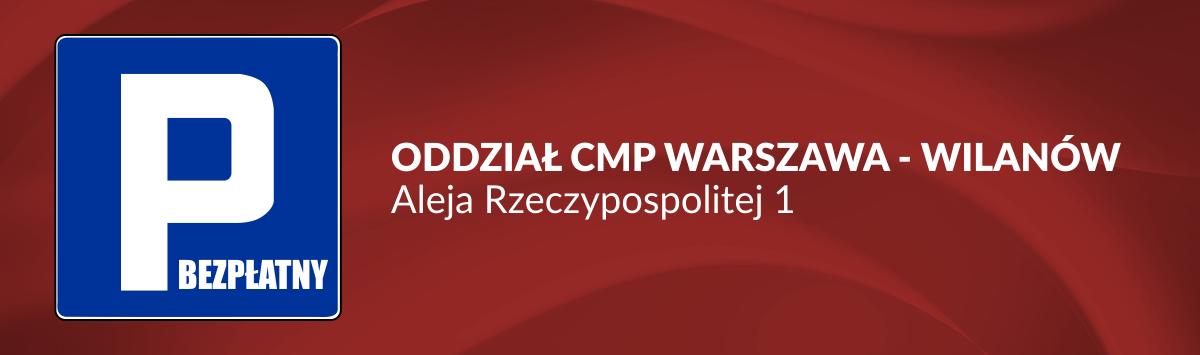 Parking – Centrum Medyczne CMP oddział Warszawa, Wilanów