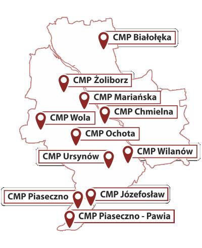 mapa oddziałów