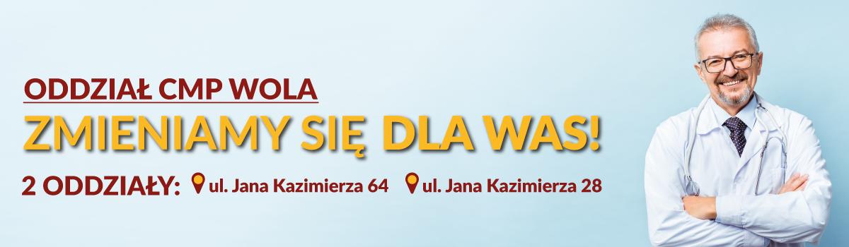 Dobry lekarz Warszawa Wola – dwa oddziały Centrum Medycznego CMP