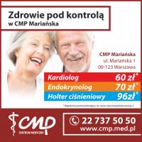 Zdrowie pod kontrolą w CMP Mariańska - Centrum Medyczne CMP- przychodnia Warszawa- przychodnia Mariańska